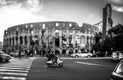 Piazza del Colosseo (Arian Durst) Tags: italy rome italia vespa scooter colosseum colosseo