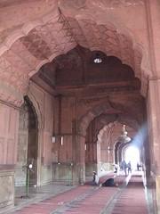 Prayer Hall, Jama Masjid, Delhi (Aidan McRae Thomson) Tags: india architecture interior delhi mosque islamic