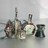 wearable small vessels (L. Sue Szabo) Tags: amphora metals vessels enamel reliquary metalsmith reliquaries etsymetal coldconnection enamelnecklaces etsymetalteam lsueszabojewelry lsueszabo enamelvessels