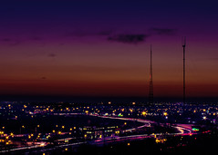 Head'n Home (Aerial Adventures) Tags: longexposure columbus sunset ohio urban highway lighttrails antennae 614 wbns10tv