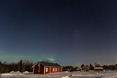 69-Aurora12 copy (Beverly Houwing) Tags: snow building night forest suomi finland frozen fullmoon lapland moonlight kukkola bungalow northernlights auroraborealis kukkolankoski