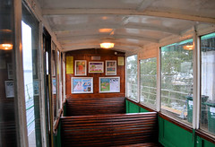 Hythe Pier Tramway (R~P~M) Tags: uk greatbritain england electric train coast pier coach carriage unitedkingdom interior railway hampshire tramway narrowgauge hythe southamptonwater hants hythepiertramway