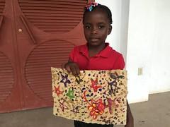 Rebecca Denis 2nd grade in Sept 2016 (Haiti Partners) Tags: haiti entrepreneurship socialbusiness childrensacademy july 2016 papermaking