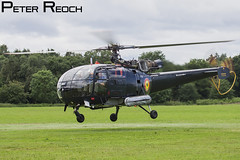 M-2 / Belgian Navy / Alouette III (Peter Reoch Photography) Tags: raf cosford air show 2016 static display belgian navy alouette iii helicopter 40 squadron heliflight naval aviation koksijde base royal force takeoff aircraft m2 blue