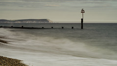 The Lookout. (muddlemaker1967) Tags: seascape water lens nikon surf seagull sigma dorset needles isle groyne f4 wight the 100300mm d700