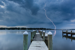 The strike [Explored!] (y0chang) Tags: reflection weather virginia pentax portsmouth lightning storms k3 yunghanchang