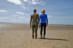 It's turned out nice again! (beardmoredavid772) Tags: england sculpture west art beach statue place north anthony another sir gormley crosby