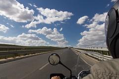 Guidando (Salvo Marturana) Tags: italia italy sicilia sicily strada moto bmw r1200gs nuvole canon550d tamron1750 trapani paceco