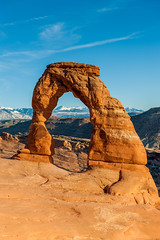 Delicate Arch, Utah (blue5011b) Tags: sunlight mountains landscape utah nationalpark arches moab delicatearch