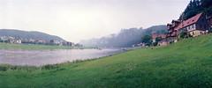 Rathen (falkschtze) Tags: noblex panorama kodakektar100 analog filmisnotdead rathen bastei schsischeschweiz