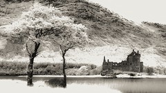 Kilchurn Castle (Shot Yield Photography) Tags: scotland uk greatbritain british scottish kilchurn castle kilchurncastle ruins exploration derelict dereliction decay abandoned medieval premises building architecture remains historic creepy scary spooky eerie place haunted dark mystic mysterious atmosphere dream like dreamlike picture shot yield foto photo image black white monochrome ir infra red infrared photography shotyieldphotography