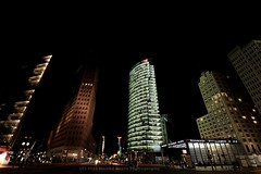 220/366 - Giants... (Sinuh Bravo Photography) Tags: canon eos7d architecture building skyscraper city buildingcomplex potsdamerplatz berlin nightshot potd2016 ayearinphotos