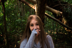 Shy (pottereitions) Tags: shy timida girl woman garota menina guria mulher criança jovem outside saturation woods trees arvores mato natureza yeah fuck