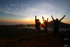 Travel quote (Garfield4989) Tags: travel traveller quote a simple hello can lead many possibilities taupo andrina