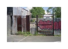 ** (ha*voc) Tags: minoltacle minoltarokkor40mmf2 rokkor film rangefinder fuji160pros urban amsterdam industrial urbanfragments corrugation entropy