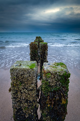 At the End of the Day! (Mark Heslington Photography) Tags: landscape seascape england uk united kingdom east yorkshire bridlington beach sea coast ocean shore water long exposure lee filters big stopper moody sky skies cloud clouds groyne shoreline coastline seaweed waves surf blur