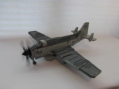 Fairey Gannet Folding Wings and Motorization (.Tyler H) Tags: fairey gannet plane lego military models competition video propeller motorization folding wings