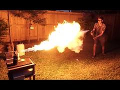 Liquid Nitrogen Freeze-Ray Vs. Flamethrower (contfeed) Tags: duration nitrogen thebackyardscientist liquid views thermos freeze pressure 589 molten