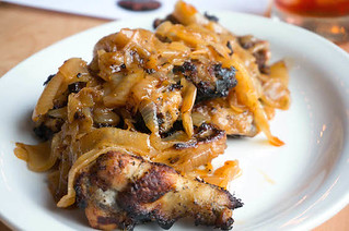 Coal fired chicken wings | charred in coal fire oven, caramelized onion