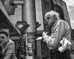 South Philadelphia near Passyunk, 2016 (Alan Barr) Tags: philadelphia 2016 southphiladelhia southphilly passyunk street sp streetphotography streetphoto blackandwhite bw blackwhite mono monochrome candid people ricoh gr