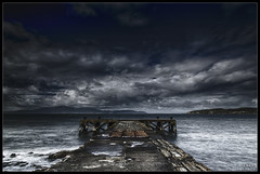 The end of the storm (WibbleFishBanana) Tags: portencross ayrshire scotland sea arran ardrossan westkilbride leelittlestopper leepolariser lee3stopsoftnd pier cloud wave