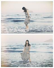 Skirt Foam ( aikawake) Tags: skirt foam bubble girl jump super woman young youth age lady smile happy happiness atmosphere beauty beautiful charming cute sea ocean beach enjoy emotion free freedom