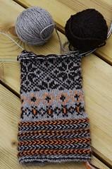 A work in progress (Blue sky and countryside.) Tags: latvian knitting mittens circular needle lizbeth upitis latgale latvia traditional handmade patterns pentax latvianbraid purewool