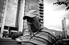 _DSC3751-2 (stimpsonjake) Tags: nikoncoolpixa 185mm streetphotography bucharest romania city candid blackandwhite bw monochrome oldman eyes cornerofhiseye