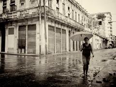 Rain in Havana (rabataller) Tags: cuba cubana rain lluvia bw america rabataller nikond800