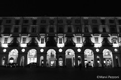 Turin by night (MarviMPZ) Tags: turin torino sera night palazzo palace architecture architettura bnw biancoenero lights luci shadows ombre marvipezzoni