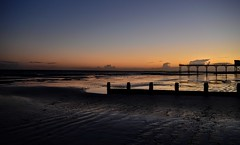 Afterglow (hall1705) Tags: afterglow sea sunset dusk d3200 seascape seaside reflection sand breakwater westsussex water