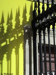 Shadow fence EXPLORED! (Shahrazad26) Tags: fence hek barrière schaduw schatten shadow barcelona spanje spain spanien espagna espagne