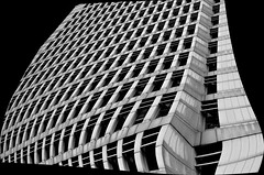 Hong Kong 7 (kruser1947 (all killer no filler)) Tags: bw blackwhite monochrome architecture abstract highrise hongkong skyscraper