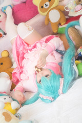 20161016 - LOL - 004 (Studio 634) Tags: cosplay hatsunemiku lol lotsoflaugh plushies stuffedanimals pastel pink lolita macaron cookie