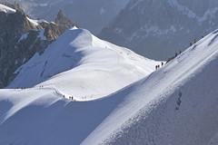Snow highway (flurryofsmoke) Tags: snow ice path trekkers mountain montblanc chamonix aiguilledumidi alps france