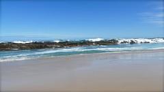 Rocky Ridge (Englepip) Tags: coast southafrica rocks waves whitehorses raging beach sand blues reflection blue green sea ocean