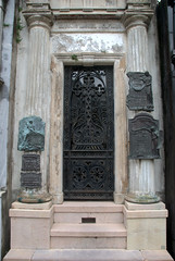 Beautiful grill on an old tomb (VinayakH) Tags: tombs tomb recoletacemetery recoleta larecoletacemetery cemetery buenosaires graves argentina latinamerica southamerica mausoleum artnouveau artdeco neogothic baroque architecture