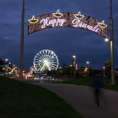 Happy Diwali (Brian Negus) Tags: illuminations belgrave cloud arch leicester night happydiwali street