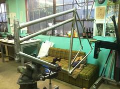 All the finish work done (Bantam Bicycle Works) Tags: usa bike bicycle handmade steel made frame works custom bantam lugs lugged