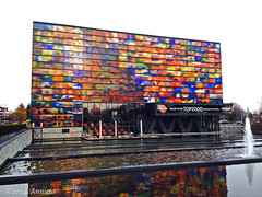 november color reflection building mobile canon powershot... (Photo: ♥ Annieta  on Flickr)