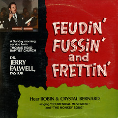 Feudin' Fussin' And Frettin' (Jim Ed Blanchard) Tags: strange robin bernard vintage private religious monkey weird store funny god crystal song album religion jerry vinyl kitsch christian novelty jacket thrift cover ugly record awkward sleeve kooky pressing falwell
