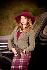 Bonnie and Clyde style photoshoot (Rich 999) Tags: hot vintage clyde couple gun photoshoot sub sb600 machine sigma holly tommy retro bonnie hotrod rod 50s pinup thompson pilot v8 harding 40s 20s d610 sb900 richardpaicephotographyrichpicsukyahoocouk