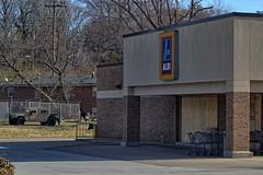 Aldi Ferguson Missouri (Ray Cunningham) Tags: community closed protest police property social civil missouri law enforcement disorder unrest ferguson arson aldi michaelbrown florissant rioting