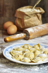 Russian traditional pelmeni with meat. (lilechka75) Tags: food cooking kitchen closeup dinner bag paper recipe table cuisine frozen wooden stuffed raw pin village dish many dough background traditional rustic egg plate mini pasta fresh meat homemade snack meal pastry mince sack flour russian making rolling prepare dumpling ravioli tortellini ingredient uncooked pelmeni