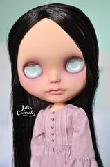 Catarina - custom blythe #199 (Julia Cabral Dolls) Tags: black girl mouth dark hair dead carved dolls vampire teeth makeup lips blythe custom vampira ebl lovemission faceup custombyme juliacabral juliacabraldolls