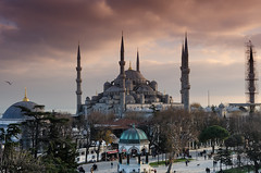 The Blue Mosque (Jakub Jerabek) Tags: city autumn sky streets public beautiful architecture turkey nikon muslim islam prayer istanbul mosque tourist orient prayers touristic squre thebluemosque d5100 nikond5100