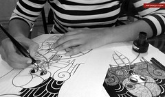 vintage people (Anita Mejia) Tags: black illustration pen ink paper mexico anitamejia