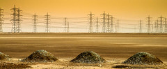 Electrical desert (aremac) Tags: electric power desert electricity poles trasnsmission