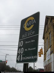 CARTA Bus Stop Sign (TheTransitCamera) Tags: city bus public sign south transport system charleston stop transportation transit carolina service carta