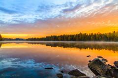 umeälv igen (johan.bergenstrahle) Tags: morning oktober reflection sunrise landscape october soluppgång morgon landskap spegling 2013 vännäs finepics umeälv umeriver